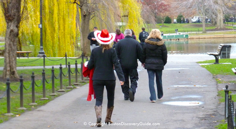 Boston December weather - Public Garden early in the month