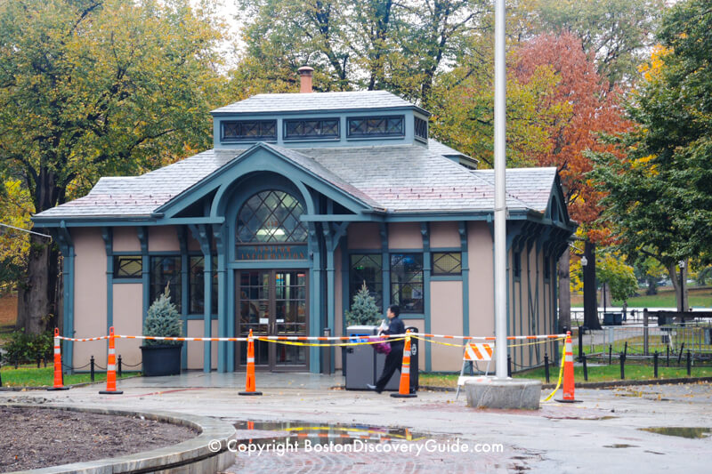 Visitor Information Center on Boston Common near Tremont Street
