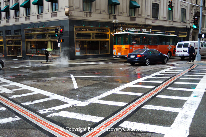 Freedom Trail at the Tremont Street - School Street intersection