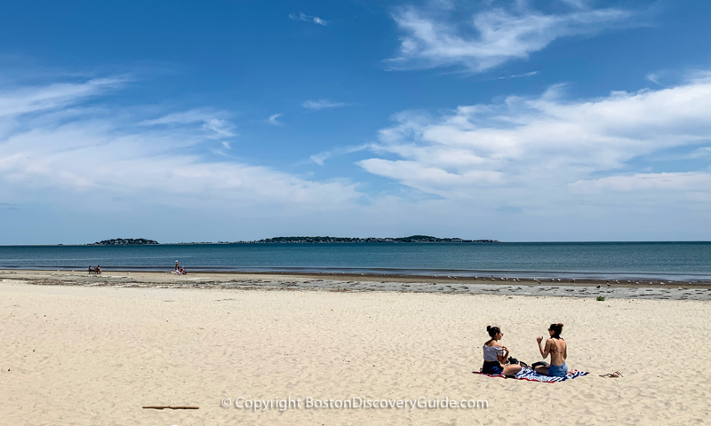 Revere Beach on a sunny afternoon