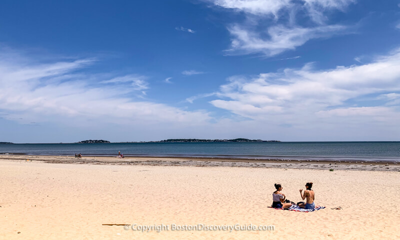 Revere Beach on a July weekday afternoon
