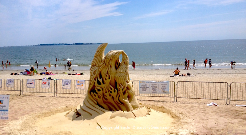 Sand Sculpture at Revere Beach