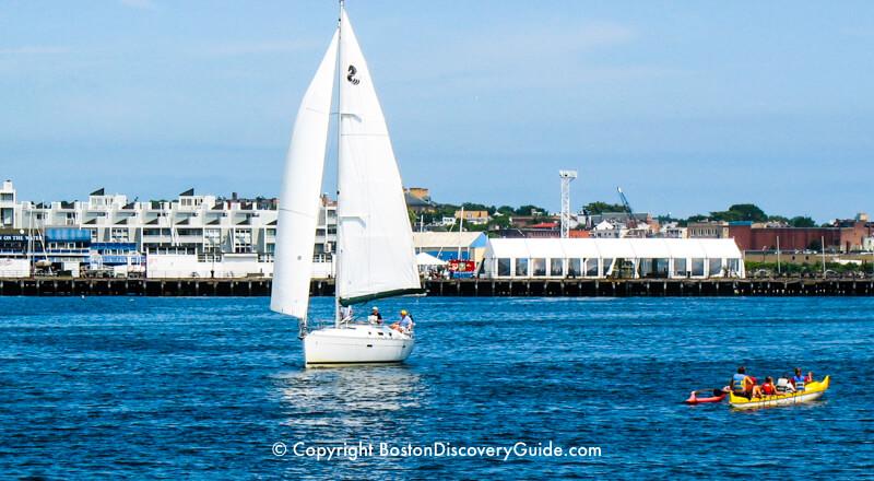 Sailing in Boston Harbor