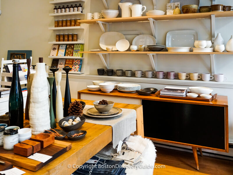 Finely crafted pottery and home decor at Good on Charles Street in Boston's Beacon Hill