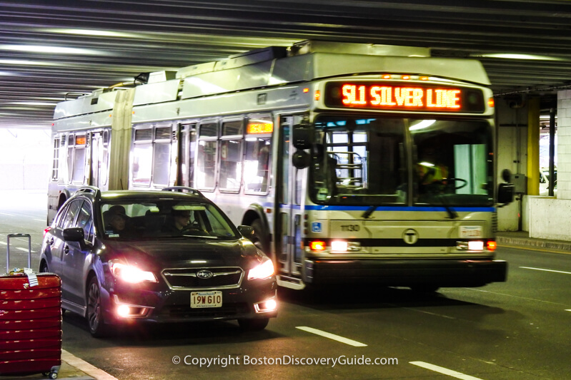 Silver Line bus at Logan Airport