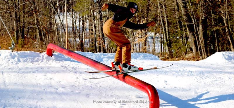 Skier at Blandford Ski Area near Boston
