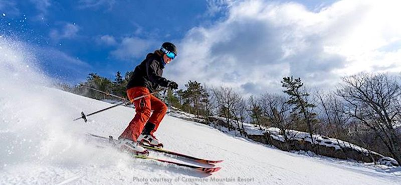 Cranmore Mountain Resort, popular New England ski area 3 hours north of Boston