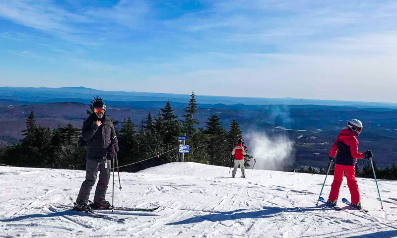 Top photo: Mount Snow ski area - Photo credit: Jessica Shi