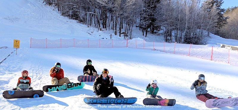 Whaleback Ski Area in Enfield, NH, 2 hours north of Boston