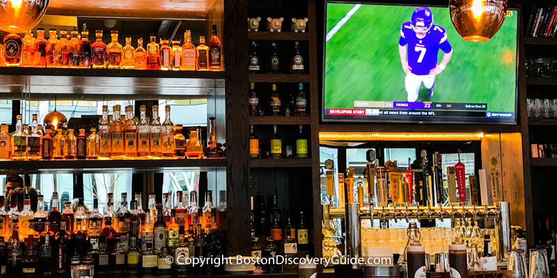 Super Bowl Sunday in Boston - Bar at The Smoke Shop BBQ - Super Bowl Party site