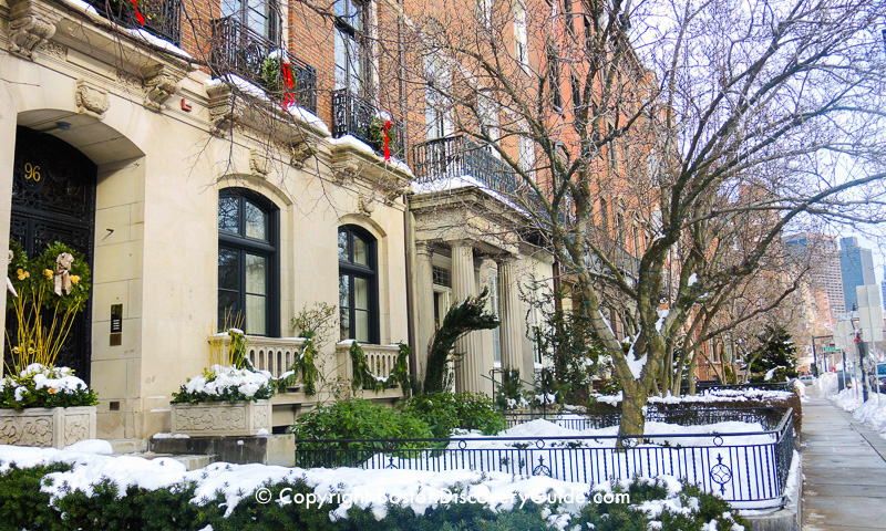 Winter walking tour of Boston: More mansions along Beacon Street