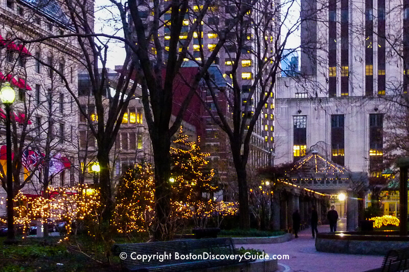 Norman B Leventhal Park in Post Office Square in Boston's Downtown Financial District