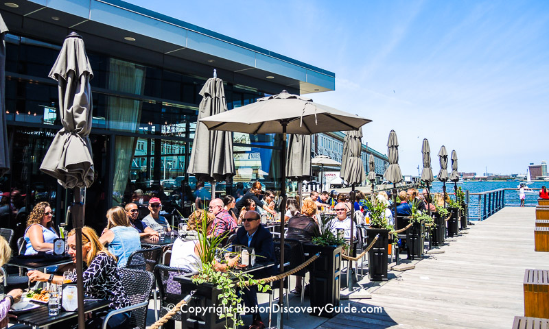 Dining along the South Boston Waterfront