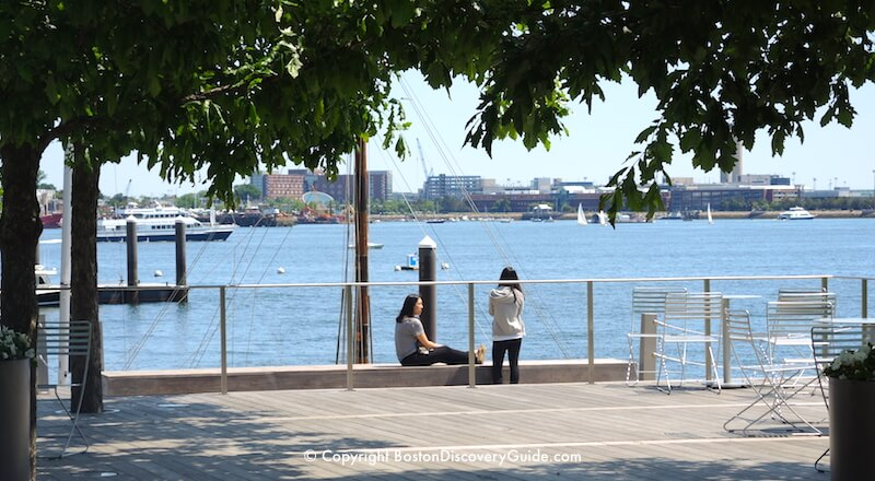 Harborwalk along the South Boston Waterfront