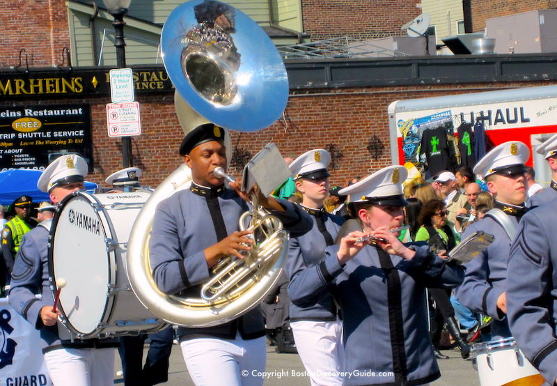 Brass marching band on West Broadway