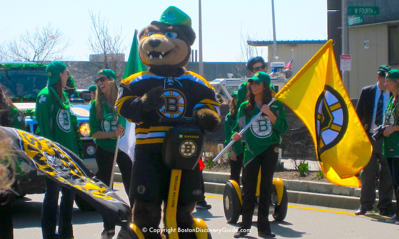 Boston Bruins parade float