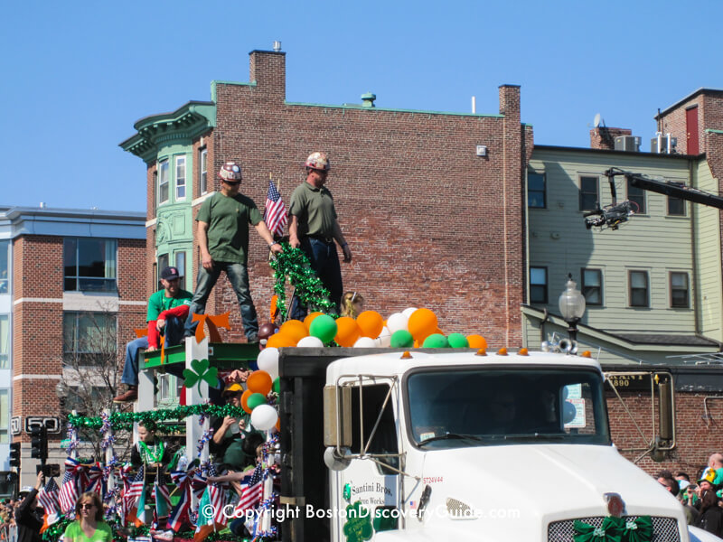 St Patrick's Day Parade on March 17 in South Boston