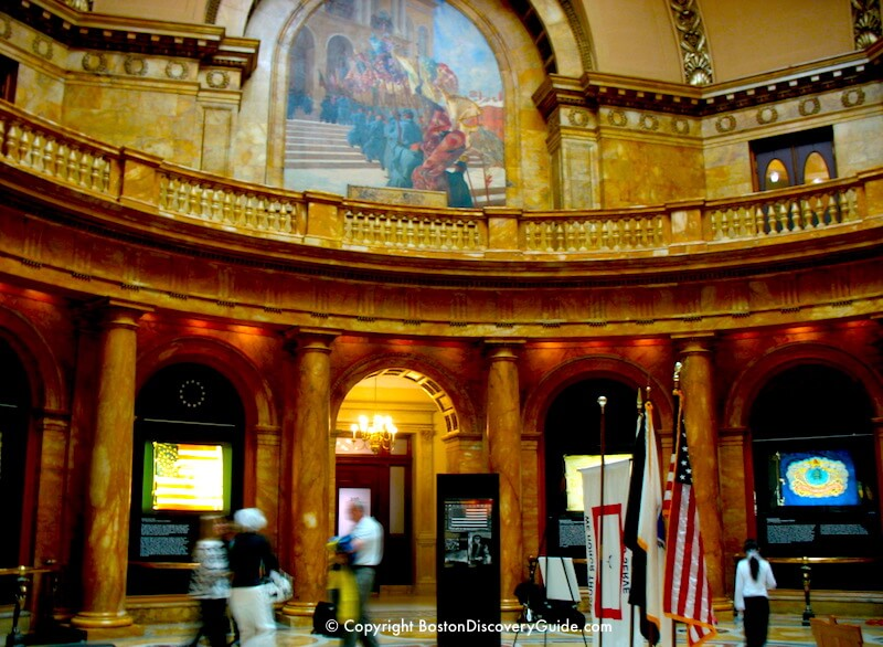 Hall of Flags in Massachusetts State House