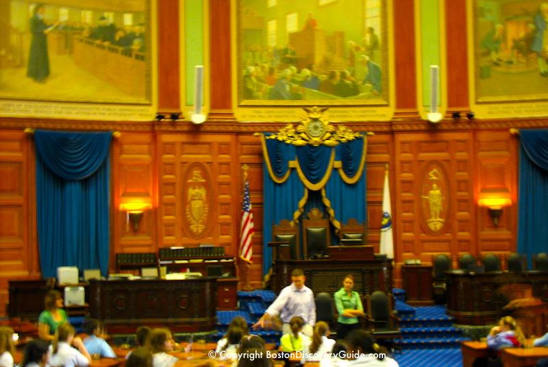 House of Representative Chambers in Massachusetts State House