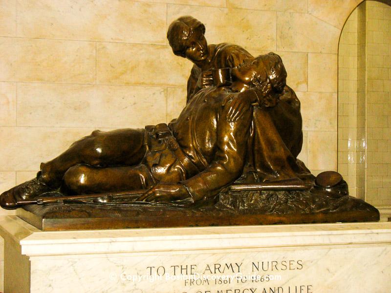 Civil War Nurses Memorial in the Massachusetts State House