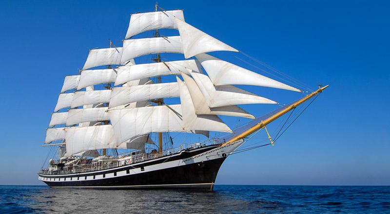 Tall Ship in Full Sail - Sail Boston 2017