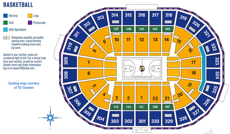 Ticket information for Boston Celtics