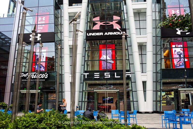 Tesla showroom at Prudential Center