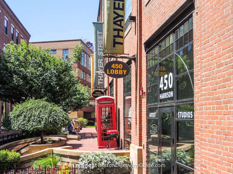 Thayer Street, home to numerous SoWa art galleries & artist studios in Boston's South End