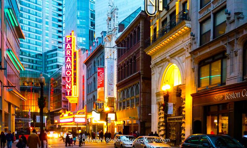 Boston's Theatre District