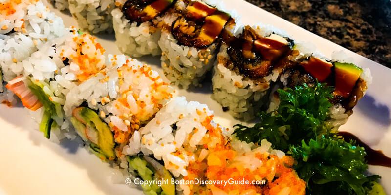 Sushi at Fin's Sushi in Boston's Theatre District