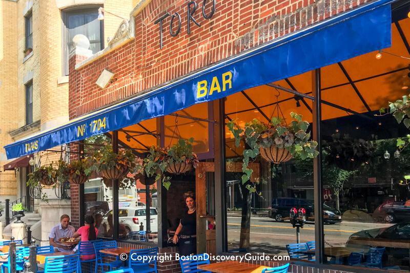 Parish Cafe's outdoor seating area on Boston's Boylston Street