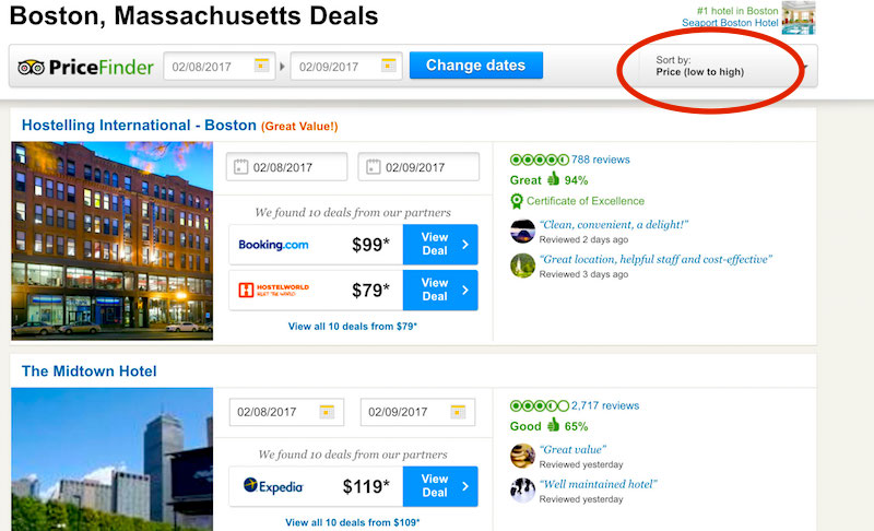 TripAdvisor Boston, MA deals