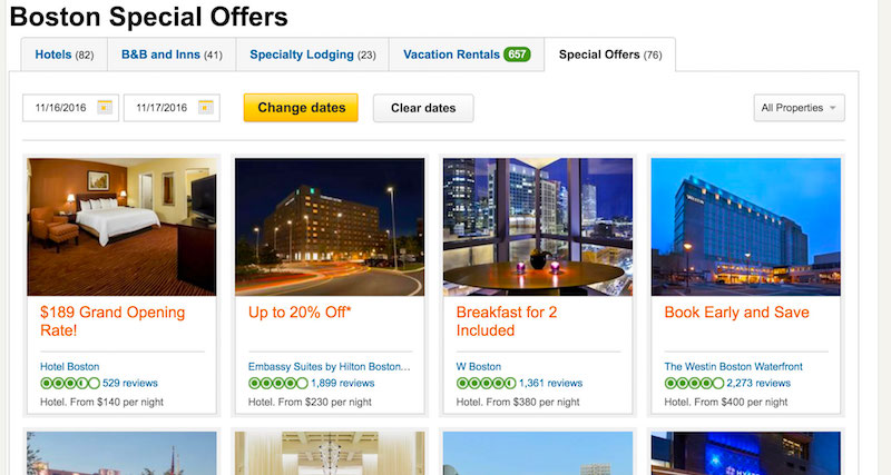 TripAdvisor Boston, MA special offers
