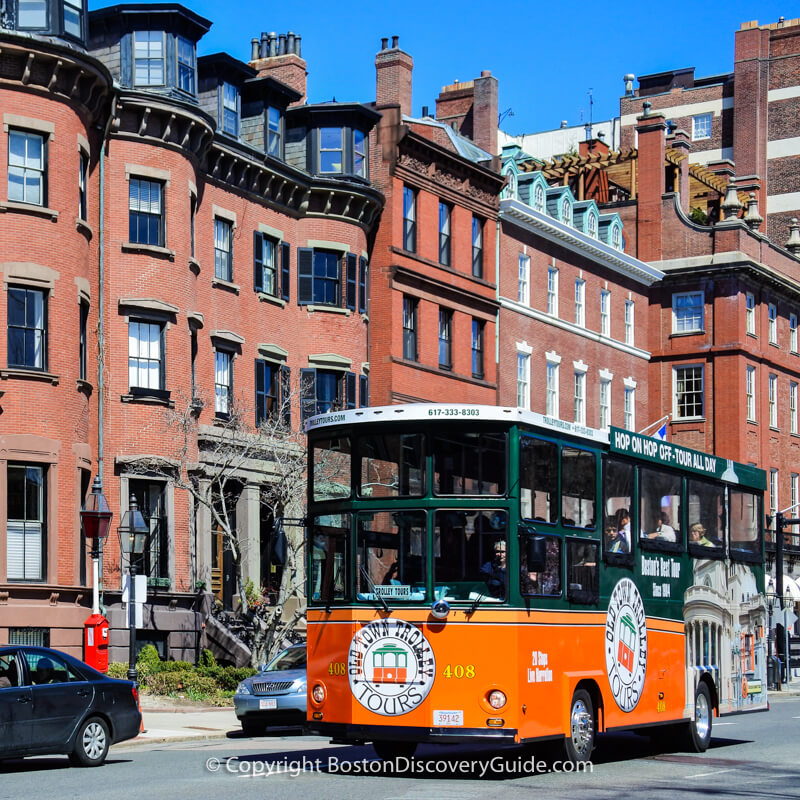 Boston hop on hop off trolley