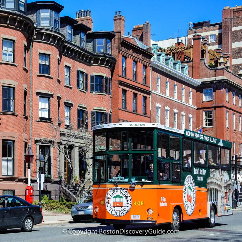 Boston hop on hop off trolley