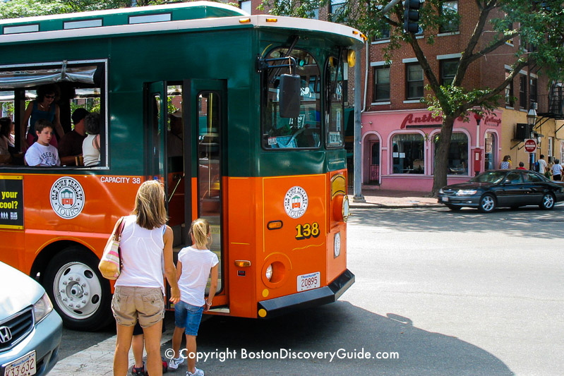 Boston Trolley Tours - Great choice for kids!