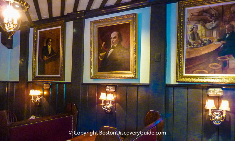 Paintings in Union Oyster House in Boston