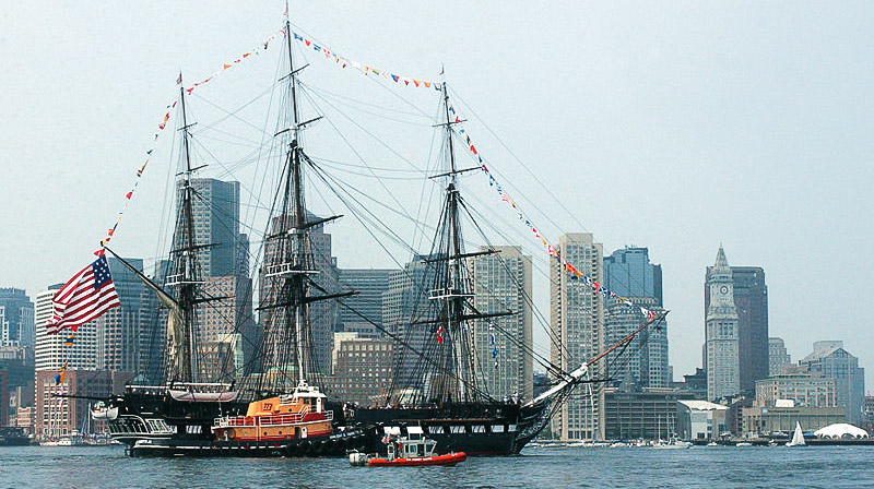 USS Constitution in Boston Harbor - go on a tour with your kids