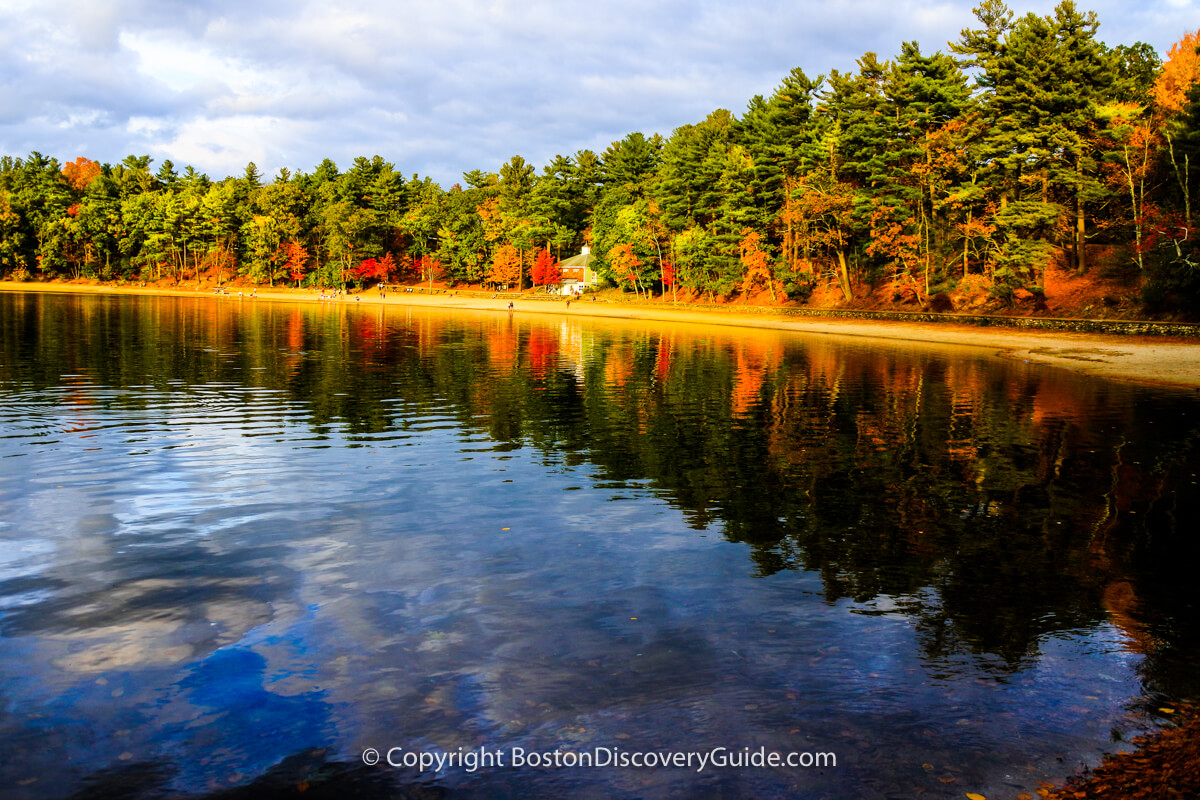 Walden Pond in October