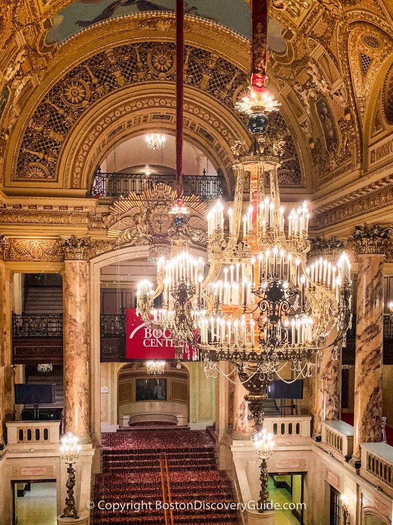Wang Theatre chandeliers