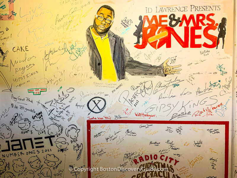 "Cast autographs from ""Me & Mrs Jones,"" ""Radio City Christmas Spectacular,"" ""Cake,"" ""Gipsy Kings,"" and other performances at the Wang Theatre"