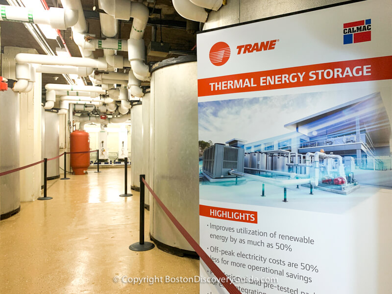 "Energy-efficient cooling system in the ""Chilling Room"" at the Wang Theatre"