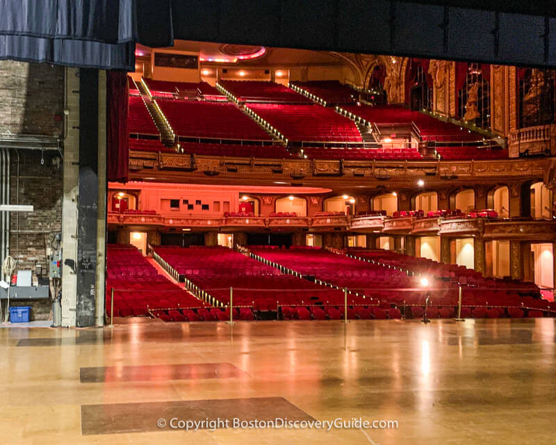 Looking out from the stage at the Wang Theatre