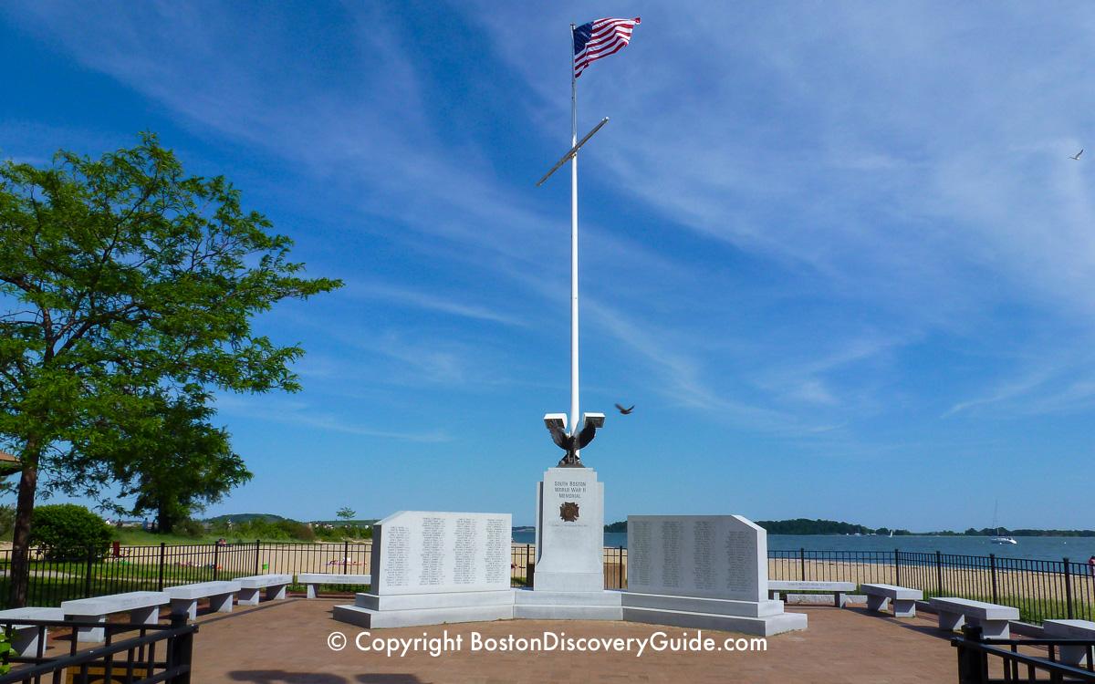 World War II memorial near Castle Island in Boston