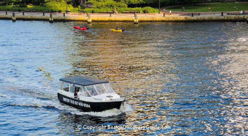 Water taxi- easiest way to get from Logan Airport to Boston's Black Falcon Cruise Terminal