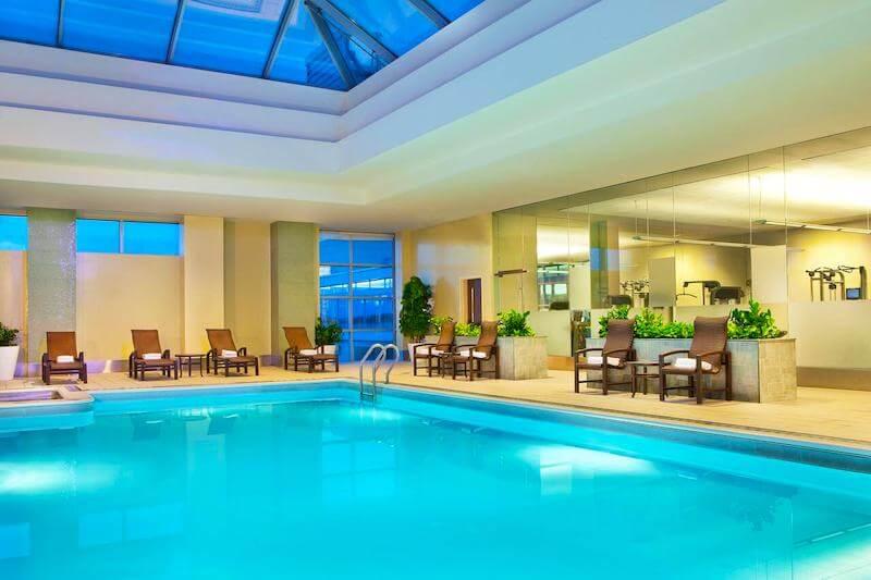 Indoor swimming pool at Westin Boston Waterfront Hotel