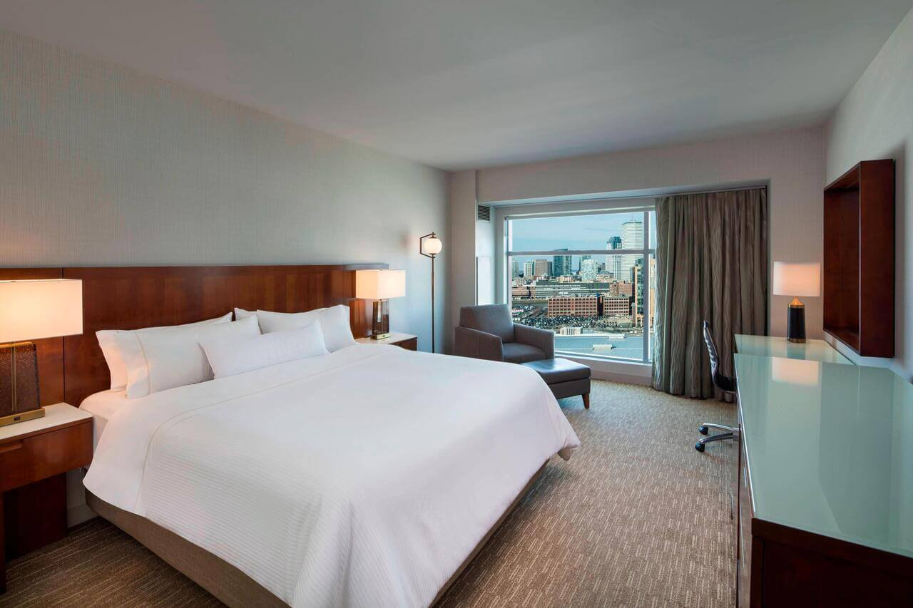 Guest room in Westin Boston Waterfront