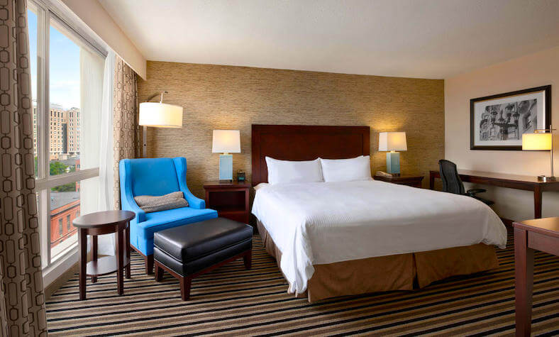 Guestroom in Wyndham Hotel