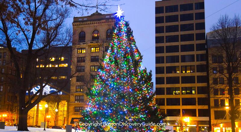 Christmas tree on Boston Common - gift from Nova Scotia