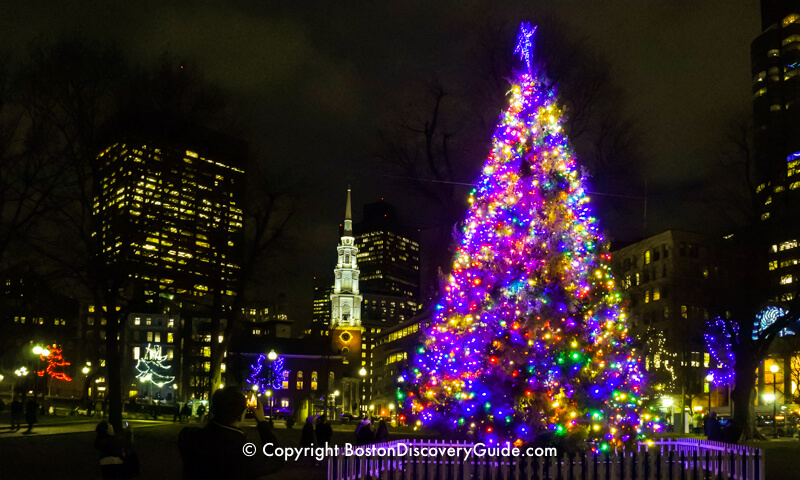 2020 Christmas Lights Boston Area Boston Christmas Tree Lighting Events Schedule 2020   Boston
